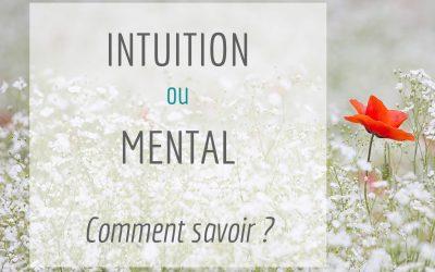 Intuition ou mental : comment savoir ?