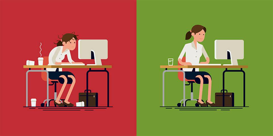 mal au dos stress au travail